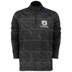Men's Under Armour Black Auburn Tigers Syntax Tech Quarter Zip Pullover Jacket XL