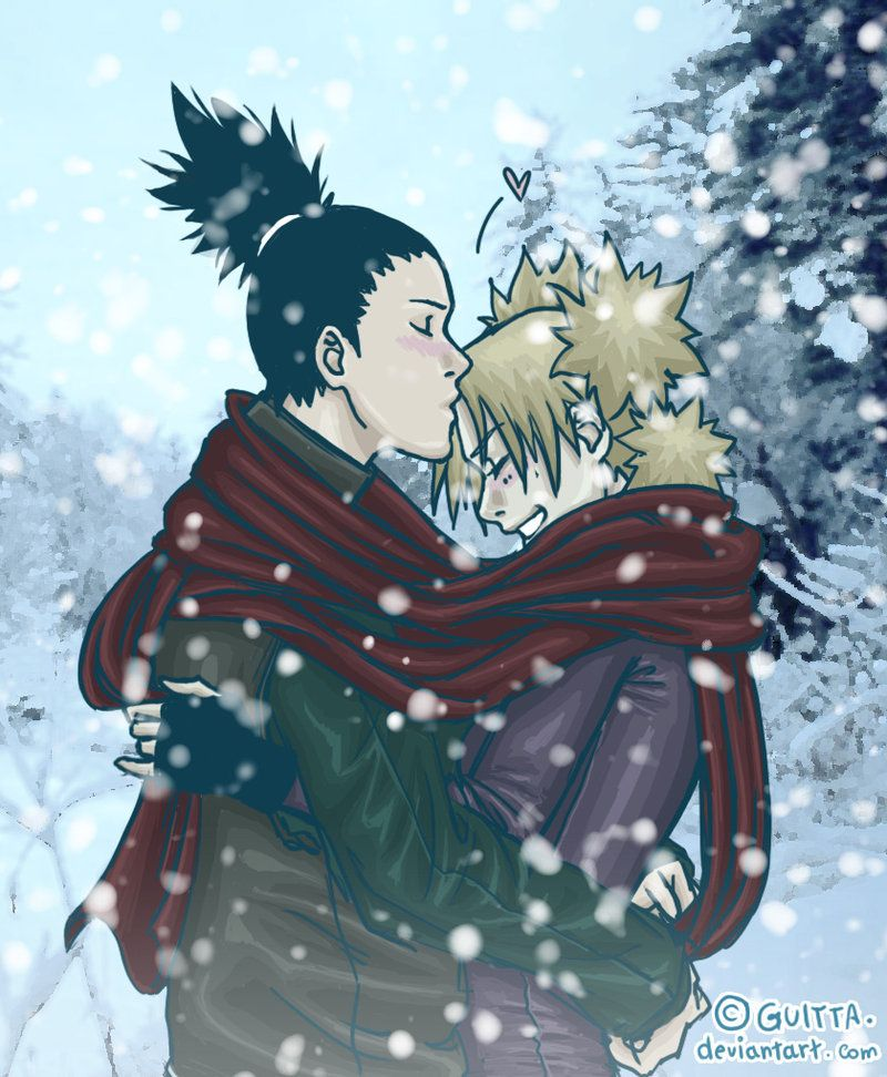 Warming Kiss. by Guitta on deviantART. I love Shikamaru ...