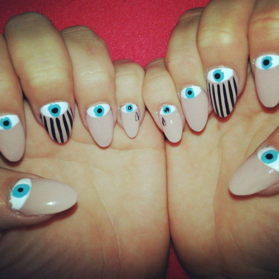 Evil Eye Nails Art (Nails by Males) | |\|@!![_$ | Pinterest | Evil ...