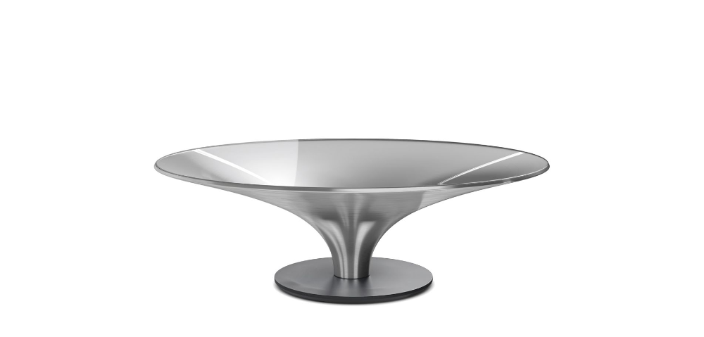 Cocktail Table O 122 Naturel Aluminium In 2020 Smoked Glass Cocktail Tables Decorative Bowls