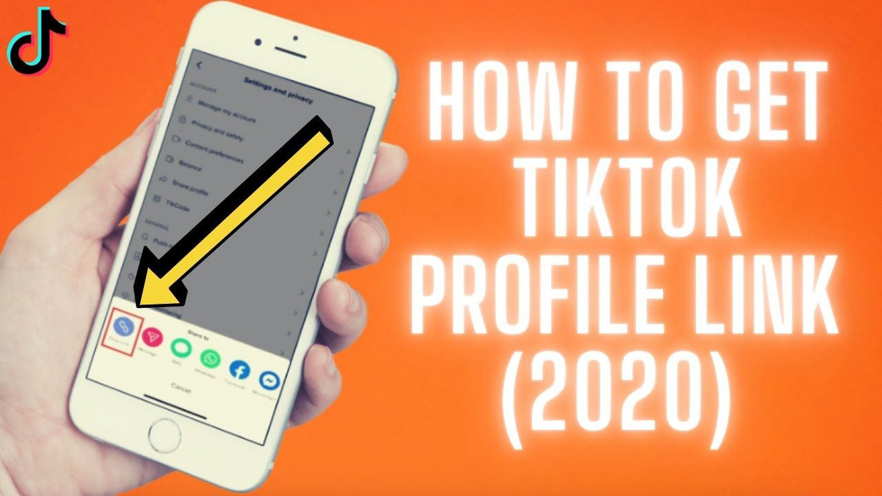 How To Get Tiktok Profile Link 2020 How To Find Copy Tik Tok Acco In 2020 How To Get Profile Tik Tok