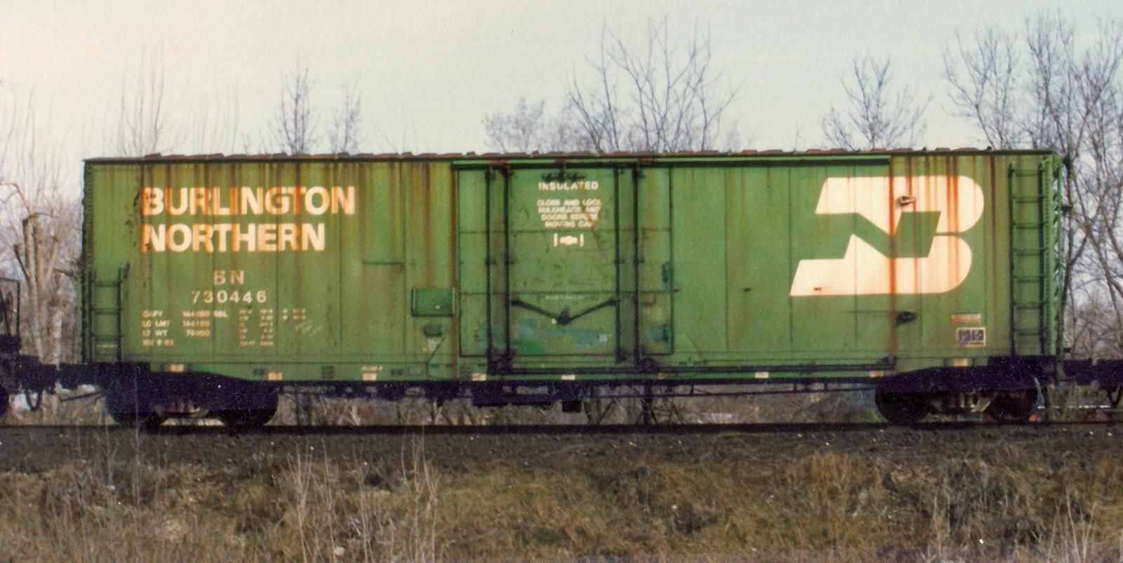 Bn 730445 50 boxcar burlington northern series builder