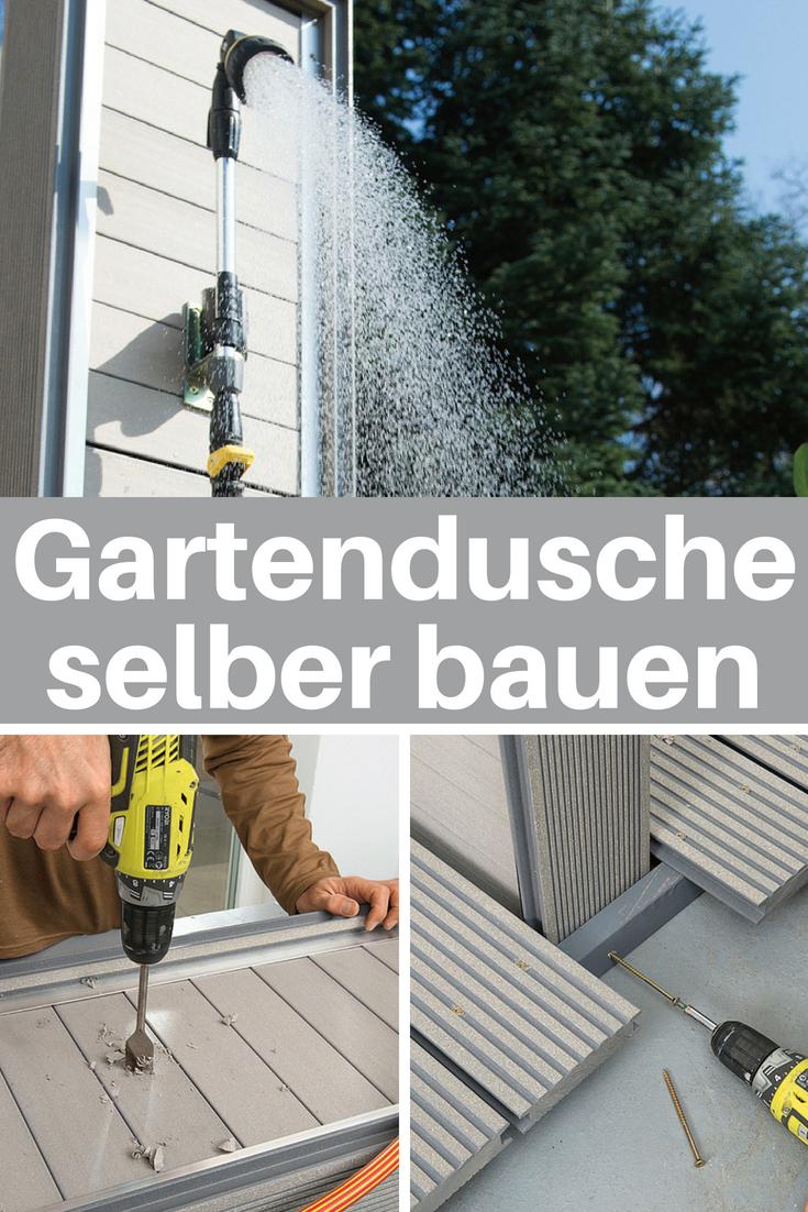 Gartendusche selber bauen | Gartenteich, Springbrunnen etc. | Pinterest