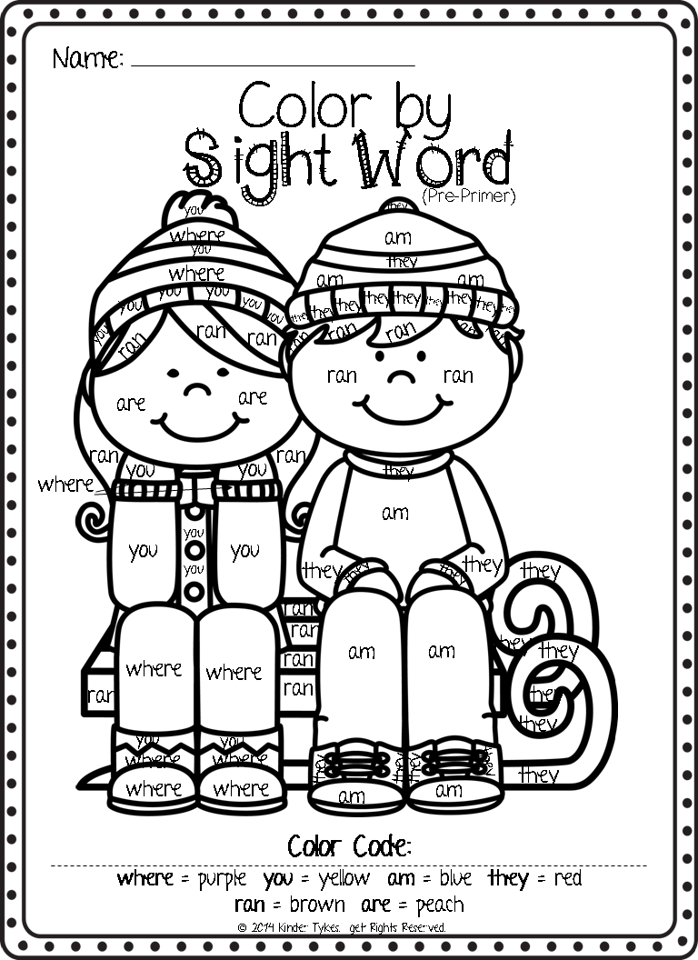 Better late than never!! Sight word coloring, Sight