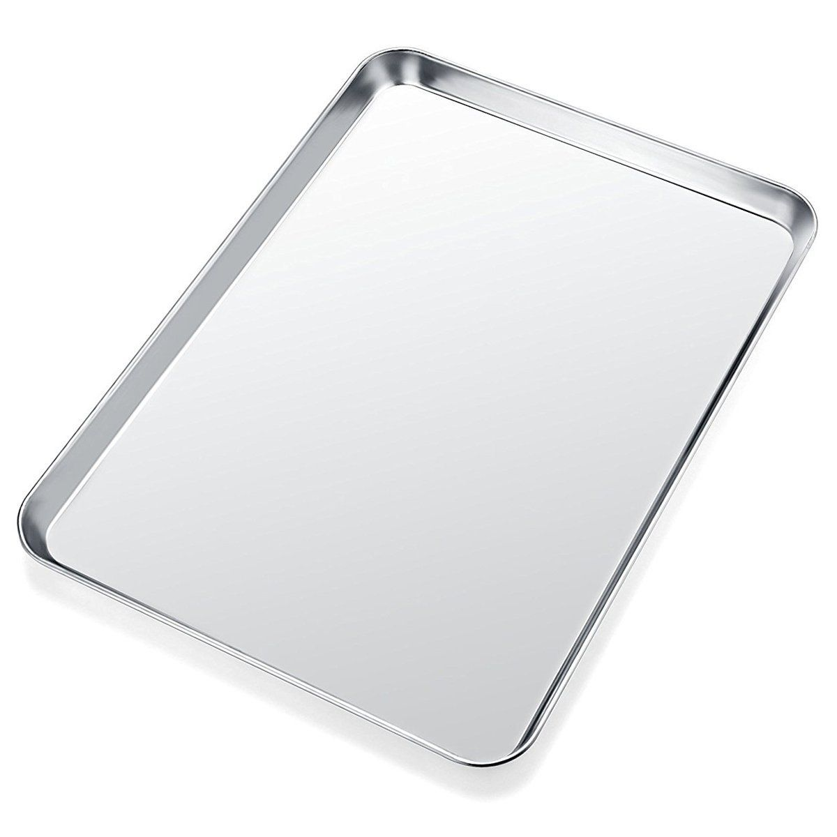 Baking Sheet Yododo Stainless Steel Baking Pan Cookie Sheet Rectangle Size 16 X 12 X 1 Inch Healthy And With Images Stainless Steel Oven Easy Cleaning Clean Dishwasher