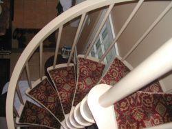 Stair Runners Custom Stair Rugs Rug Rats Stair Runner | Spiral Staircase Carpet Runners | Staircase Ideas | Staircase Railings | Stair Case | Beige Carpet | Sisal Stair