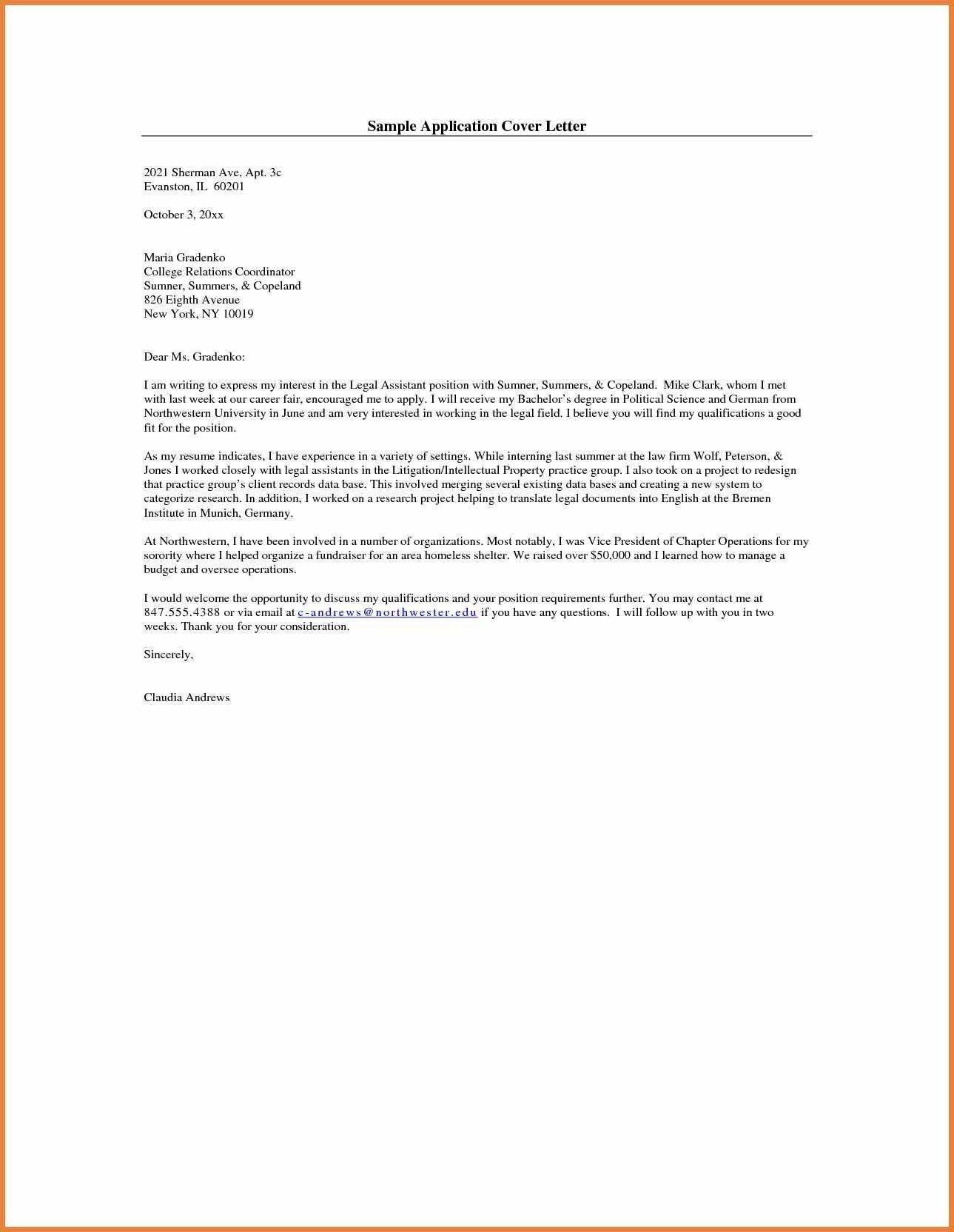 Job Application Cover Letter Format Covering Letter For