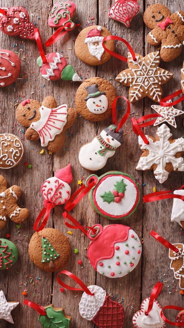 Wallpaper Iphone Winter Holidays Christmas Cookie Sweet