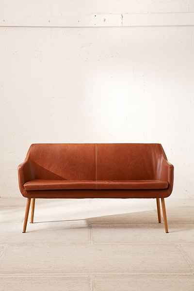 Ordinaire Nora Vegan Leather Dining Bench   Urban Outfitters
