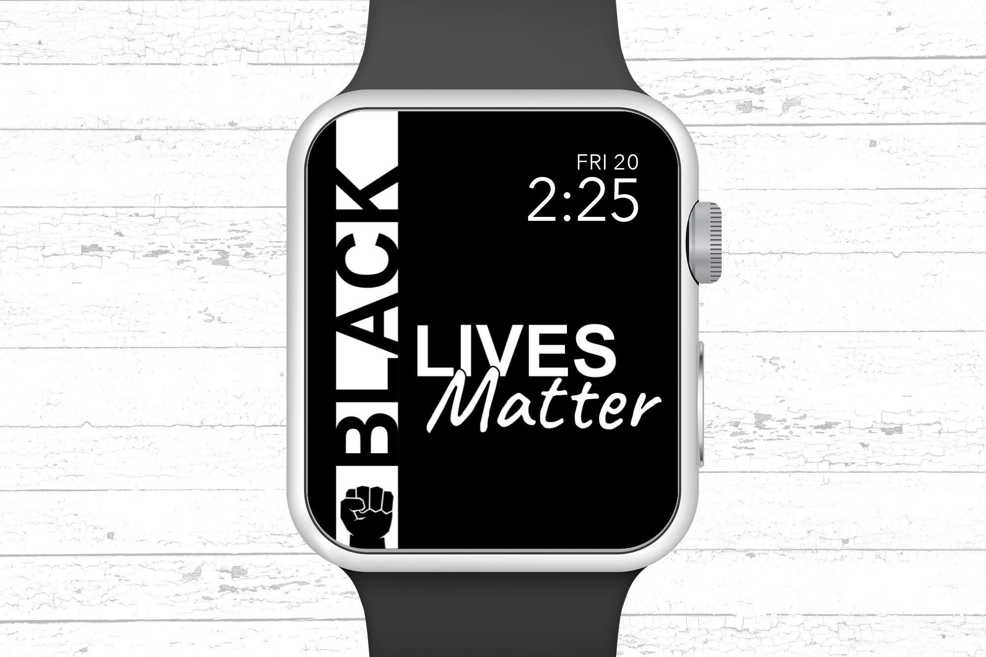 Black Lives Matter With Fist Apple Watch Wallpaper Etsy In 2021 Apple Watch Wallpaper Apple Watch Watch Wallpaper