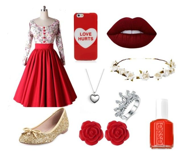 """""""Red"""" by abigaelf on Polyvore featuring mode, Marc Jacobs, Lime Crime, Cult Gaia, Pandora, Kate Spade, Dollydagger et Essie"""