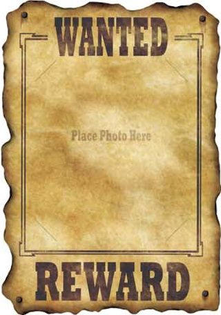 Western Wanted Sign Western Theme Party Wild West Party Wild West Theme
