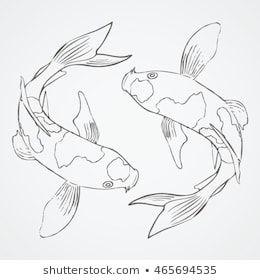 Lignende bilder, arkivbilder og vektorer av KOI FISH Sketch 3 – 465694535
