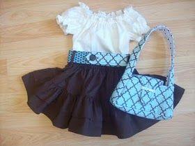 White blouse & skirt