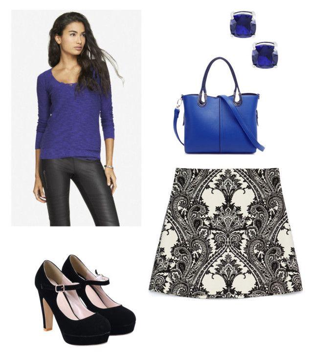 """back the same blue"" by rara-nataliya ❤ liked on Polyvore featuring Zara and Express"