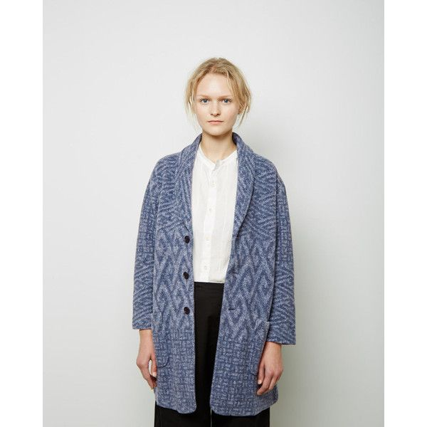 Blue Blue Japan Shawl Collar Fleece Cardigan ($340) ❤ liked on ...