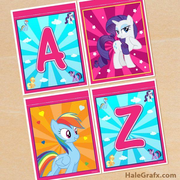 Free Printable My Little Pony Alphabet Banner Pack My Little