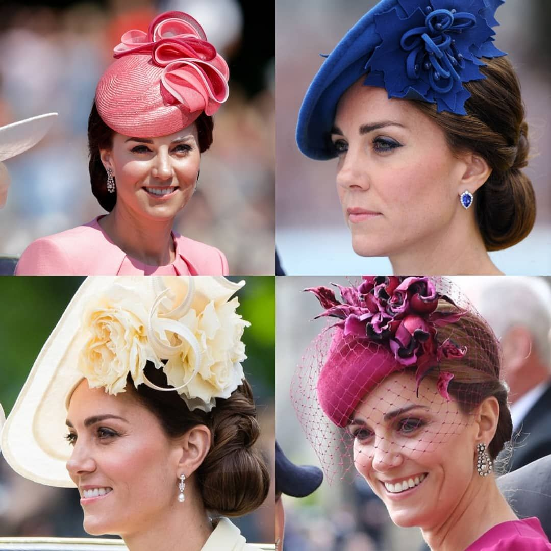"TheRoyalCourier on Instagram: ""When it comes to hats/fascinators, the Duchess of Cambridge seems to nail it every time! Last addition to the hats/fascinators series! ���…"""