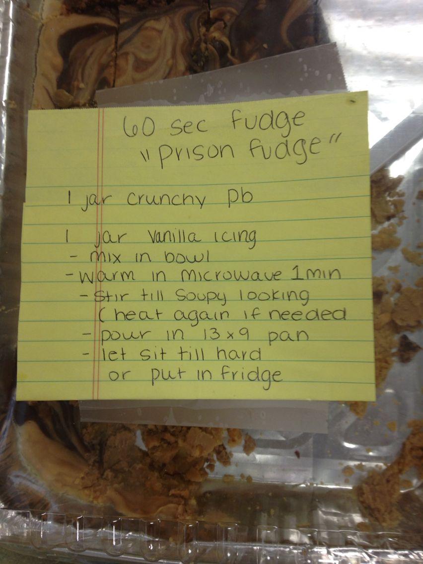 how to make prison fudge