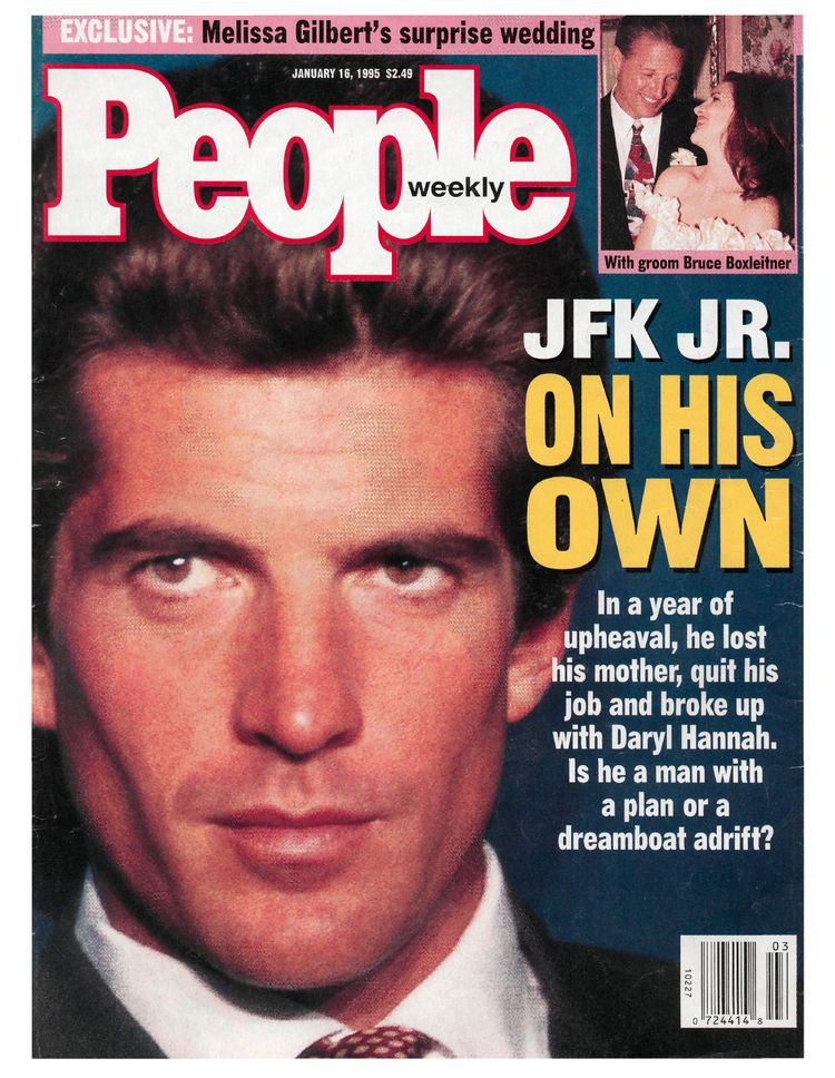 People magazine 1995, John F Kennedy Jr - On His Own In a year - lost person poster