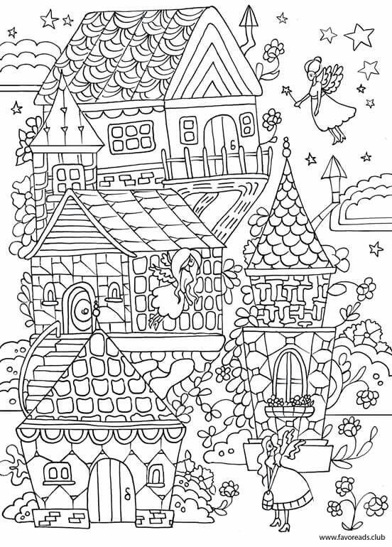 Pin de Pam Musheno en Coloring - Buildings and Landscapes | Pinterest