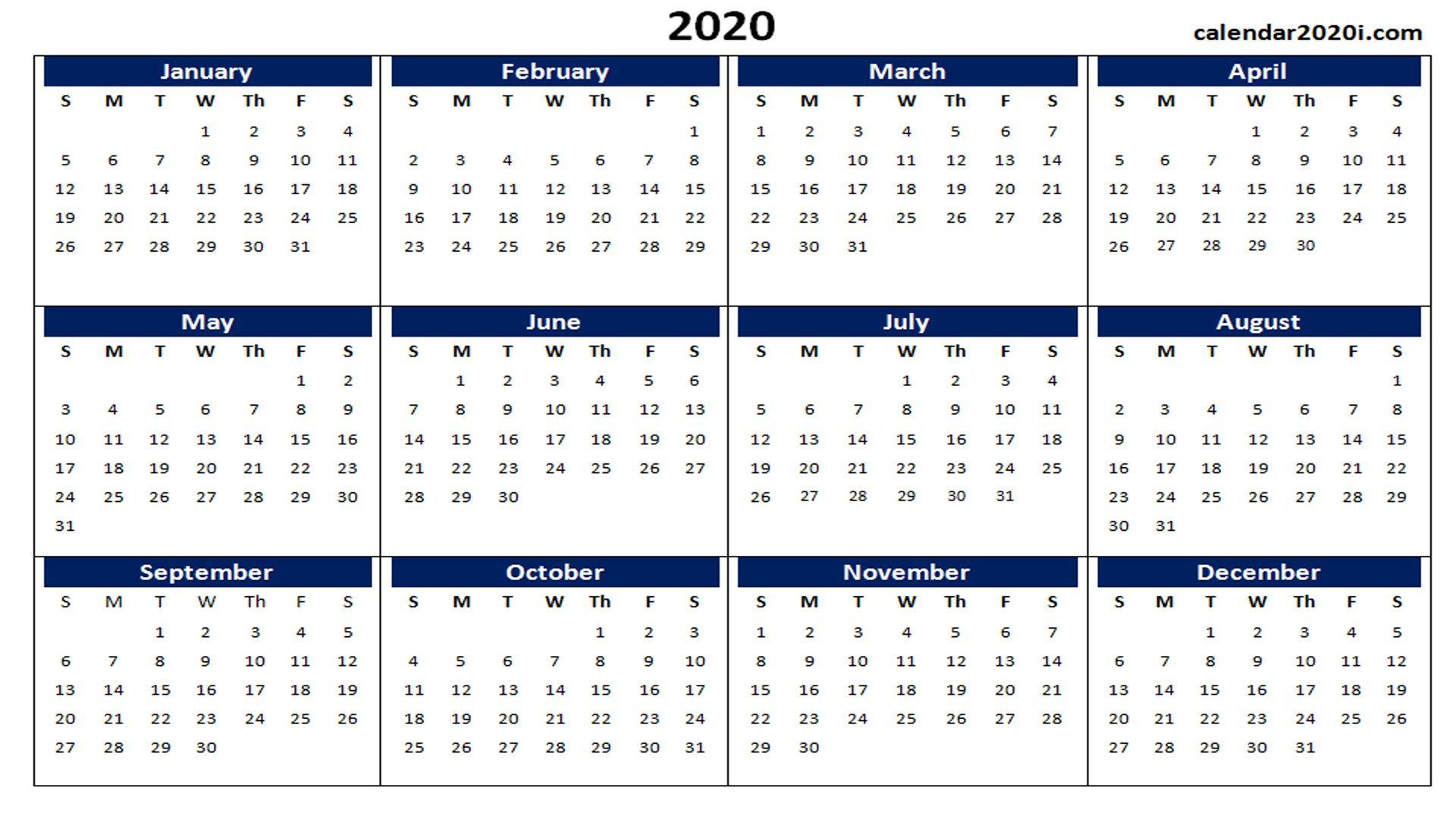2020 Calendar Printable Template Holidays Word Excel Free Blank Printable Calendar 2020 Templa In 2020 Printable Calendar Word Calendar Word Monthly Calendar Printable
