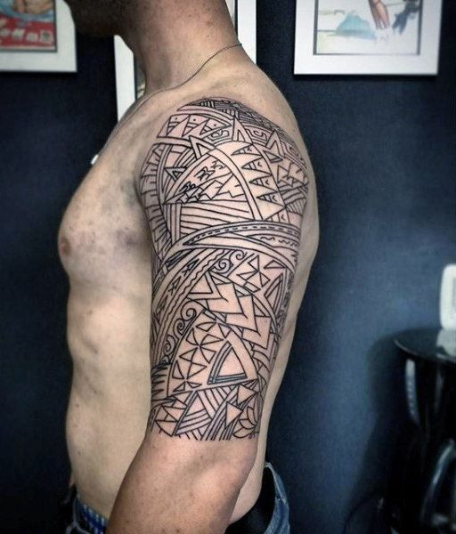 Outline Of Polonisian Sleeve: Top 93 Maori Tattoo Ideas [2020 Inspiration Guide