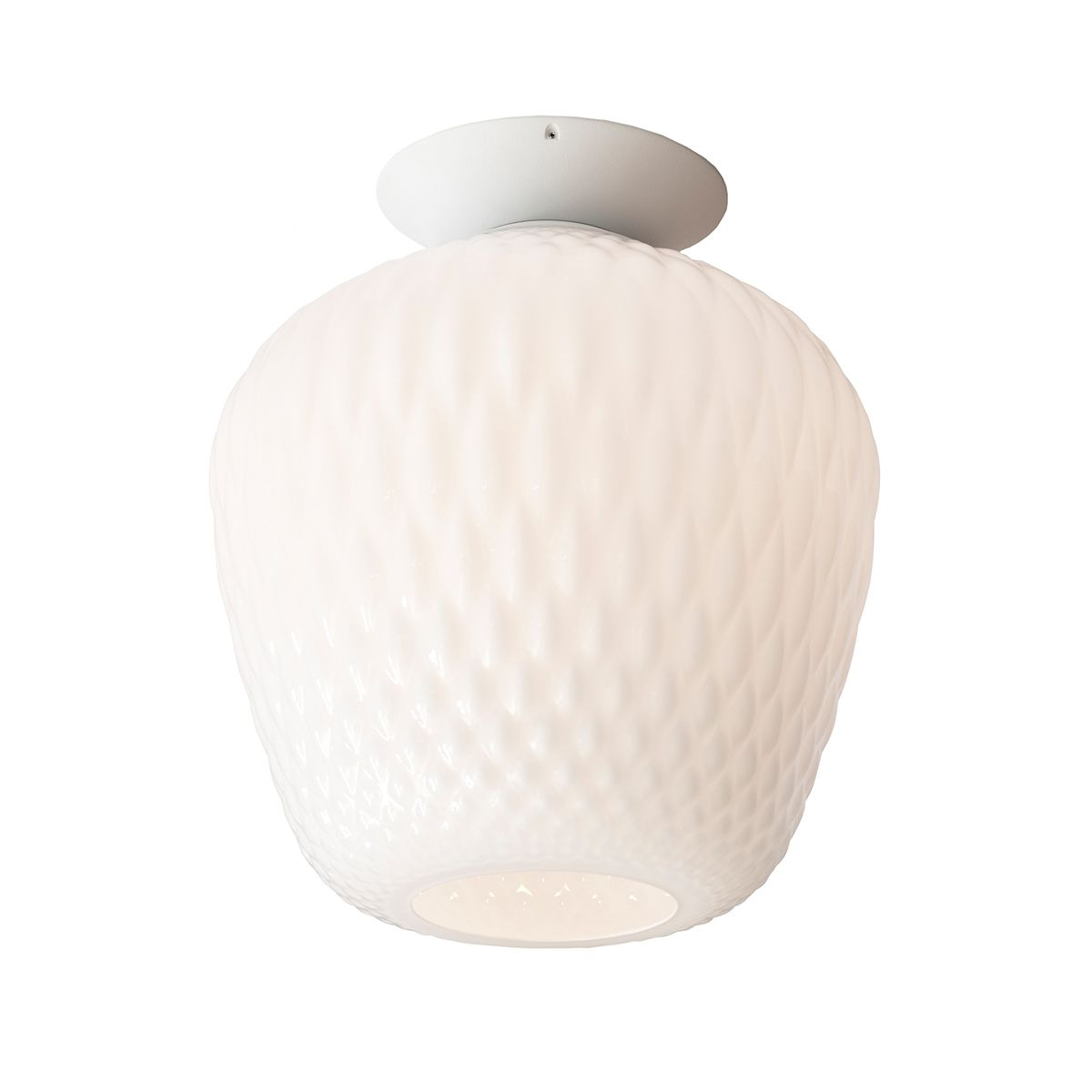 Tradition Blown Sw5 Ceiling Lamp Opal Ceiling Lamp Mouth Blown Glass Lighting Ceiling Lamp