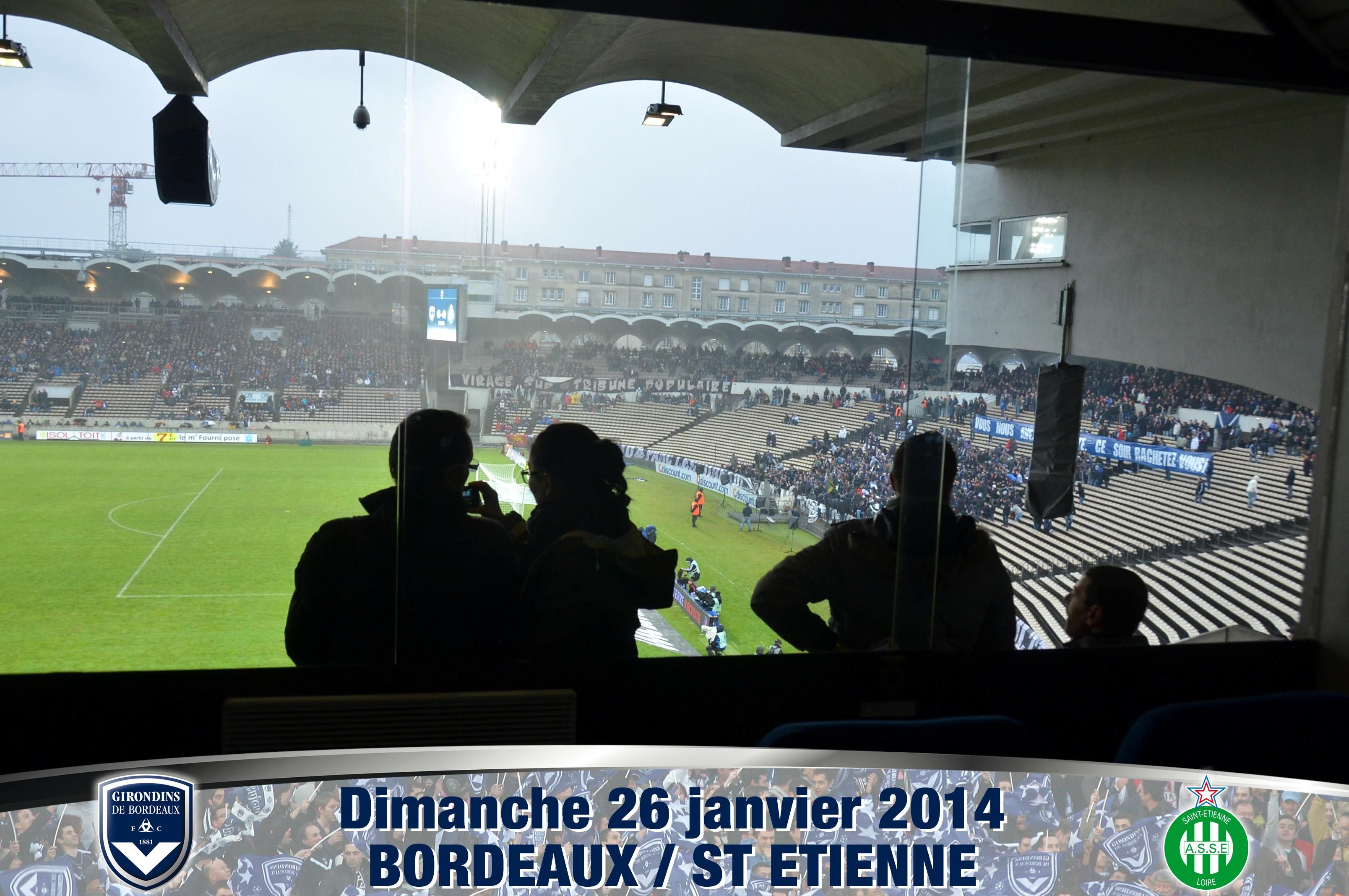 Girondins de Bordeaux - ASSE - 26/01/2014