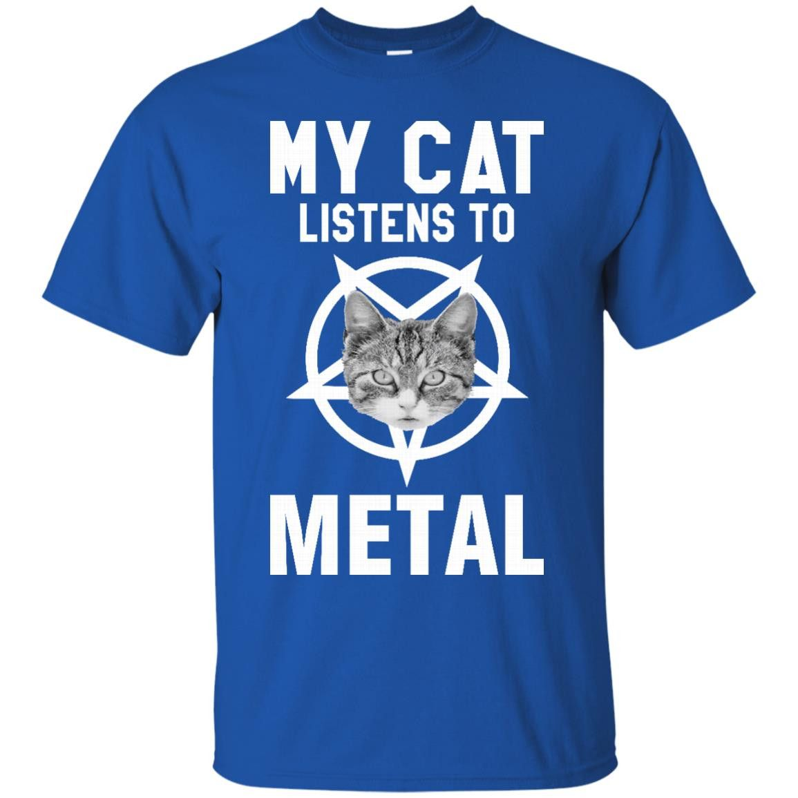 Cat Metal Rock Shirts My Cat Listens To Metal T-Shirts Hoodies Sweatshirts