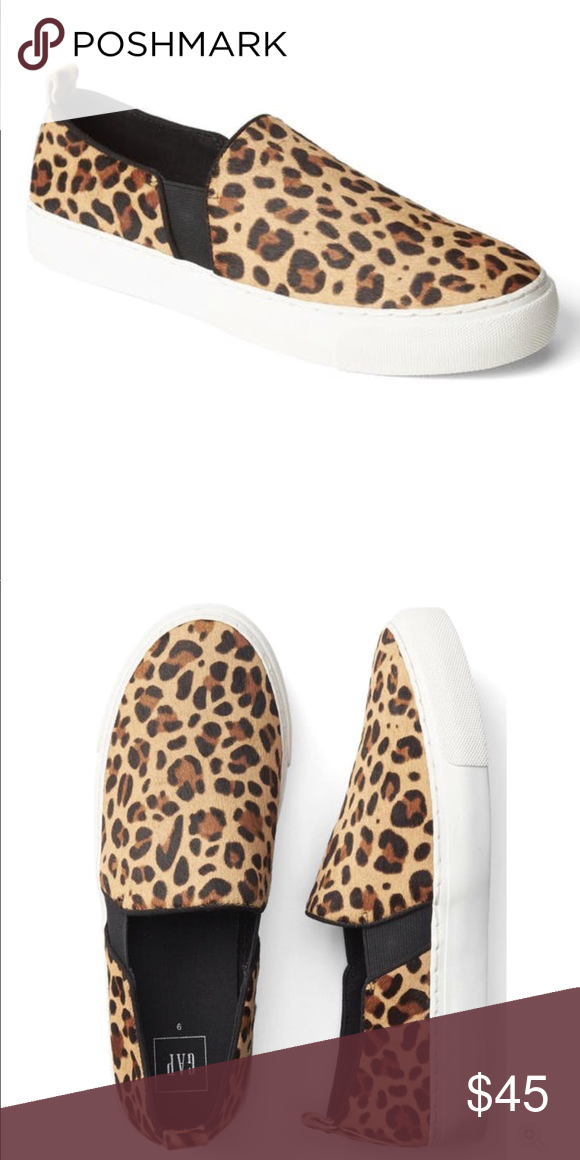 GAP leopard slip on sneakers | Leopard