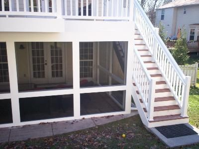 Upper Deck With Lower Level Screened Room In St Louis Patio Under Decks Screened In Patio Patio Enclosures