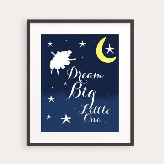 New to fudemori on Etsy: Dream Big Little One Art Print 0095 printable Nursery Art pdf (5.50 USD)