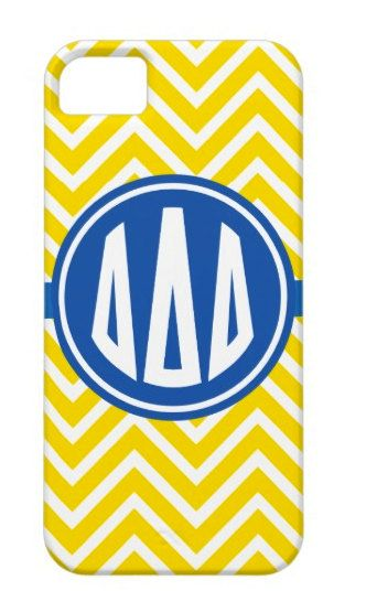 Tri Delta Monogram Style Phone Case by AlyssaCreates on Etsy, $23.99