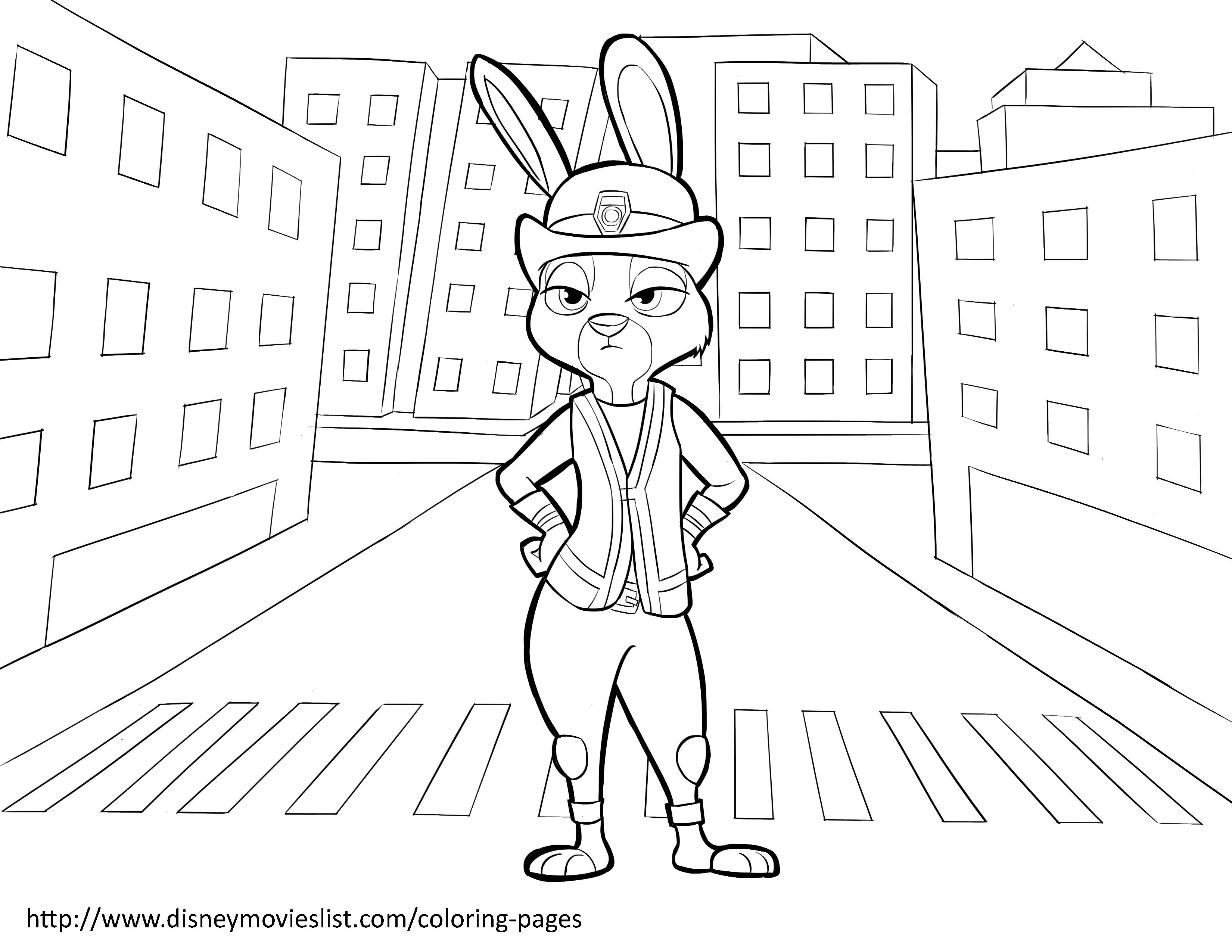 Zootopia Coloring Pages For Kids Free Coloring Pages Pinterest