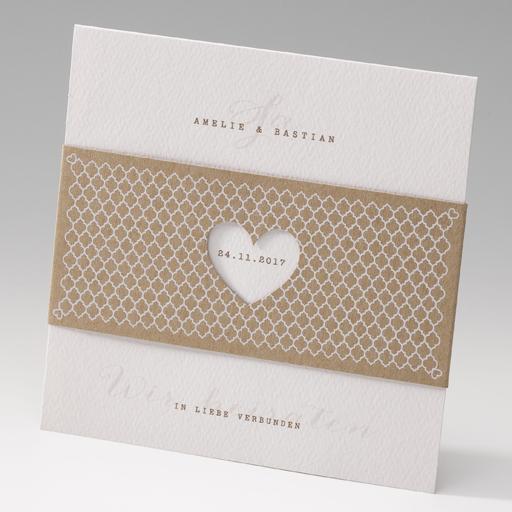 sehr romantisch und zugleich modern. diese einladungskarte bietet, Einladungskarten