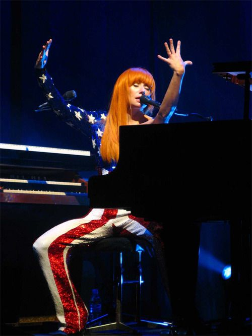 Tori Amos' American Flag Jumpsuit which she wore during her American Doll Posse tour.