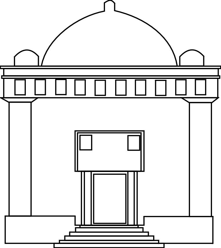 Jewish Temple Outline Coloring Page Jewish Synagogue Clipart