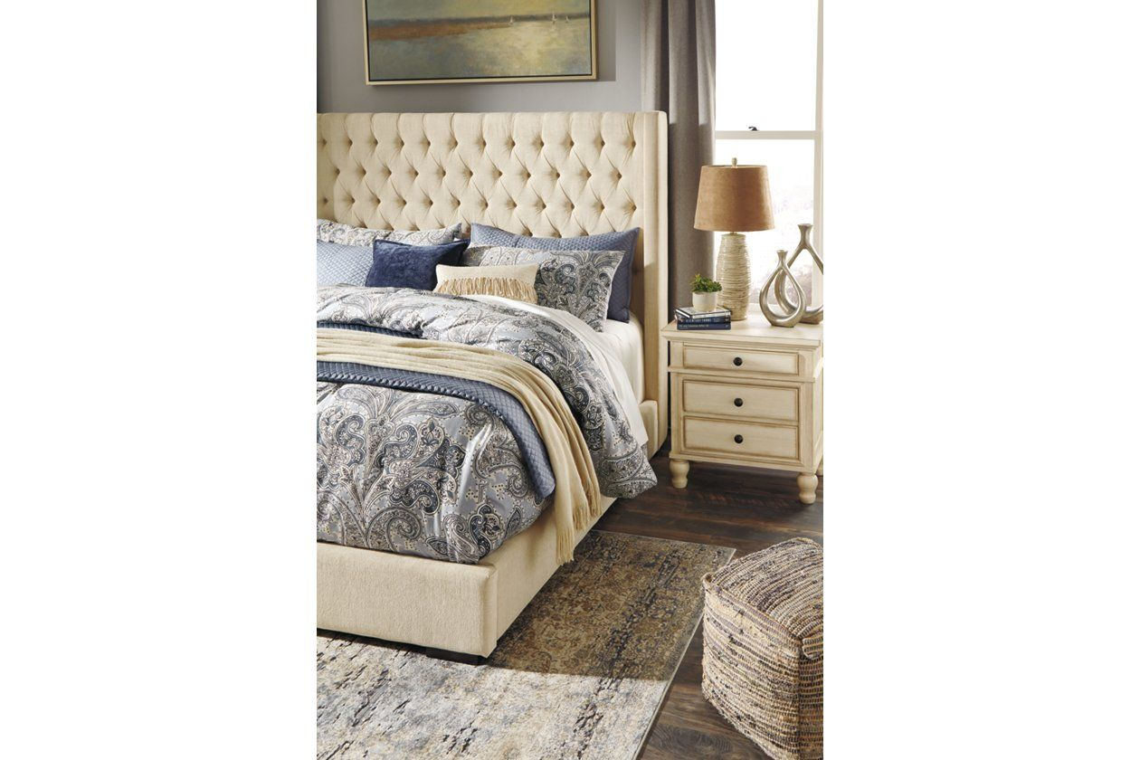 Norrister Queen Upholstered Bed with 1 Large Storage