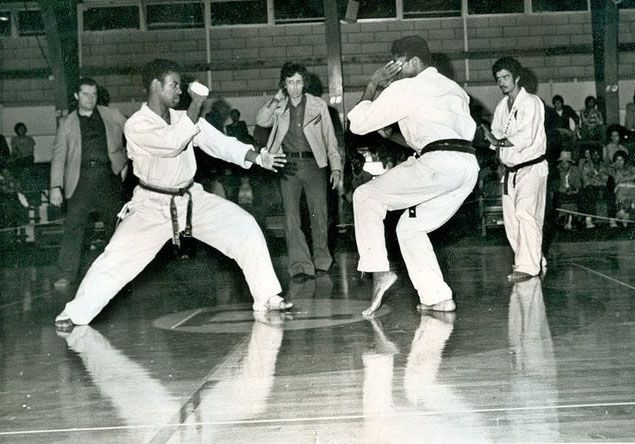 Errol Bennett And Fred Miller Sparring Head Referee Aaron Banks Corner Judge R Ron Taganashi Martial Arts Life Art Martial