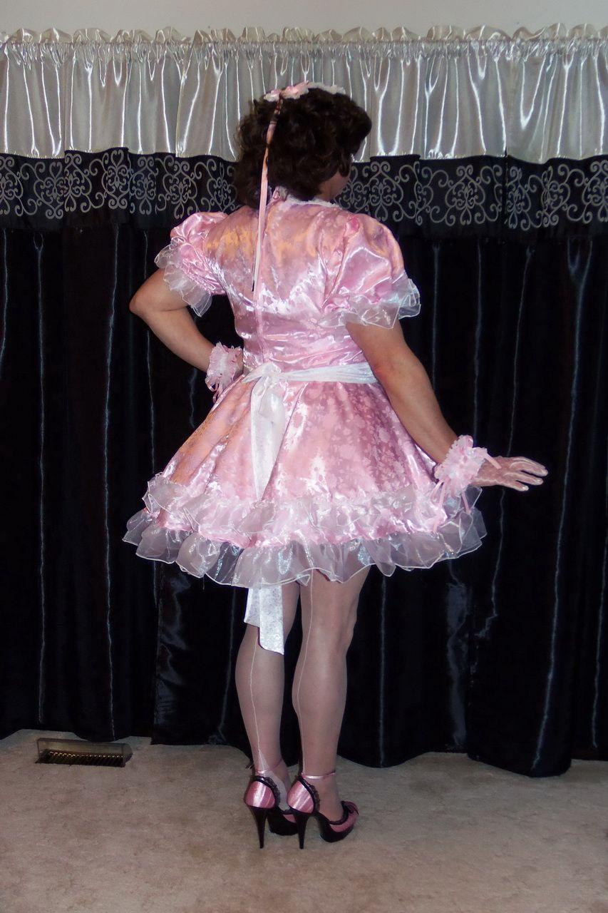 e7bc9ffbbb Posing in my G2407 Lockable French Maid Uniform Sissy Maid Dress ...