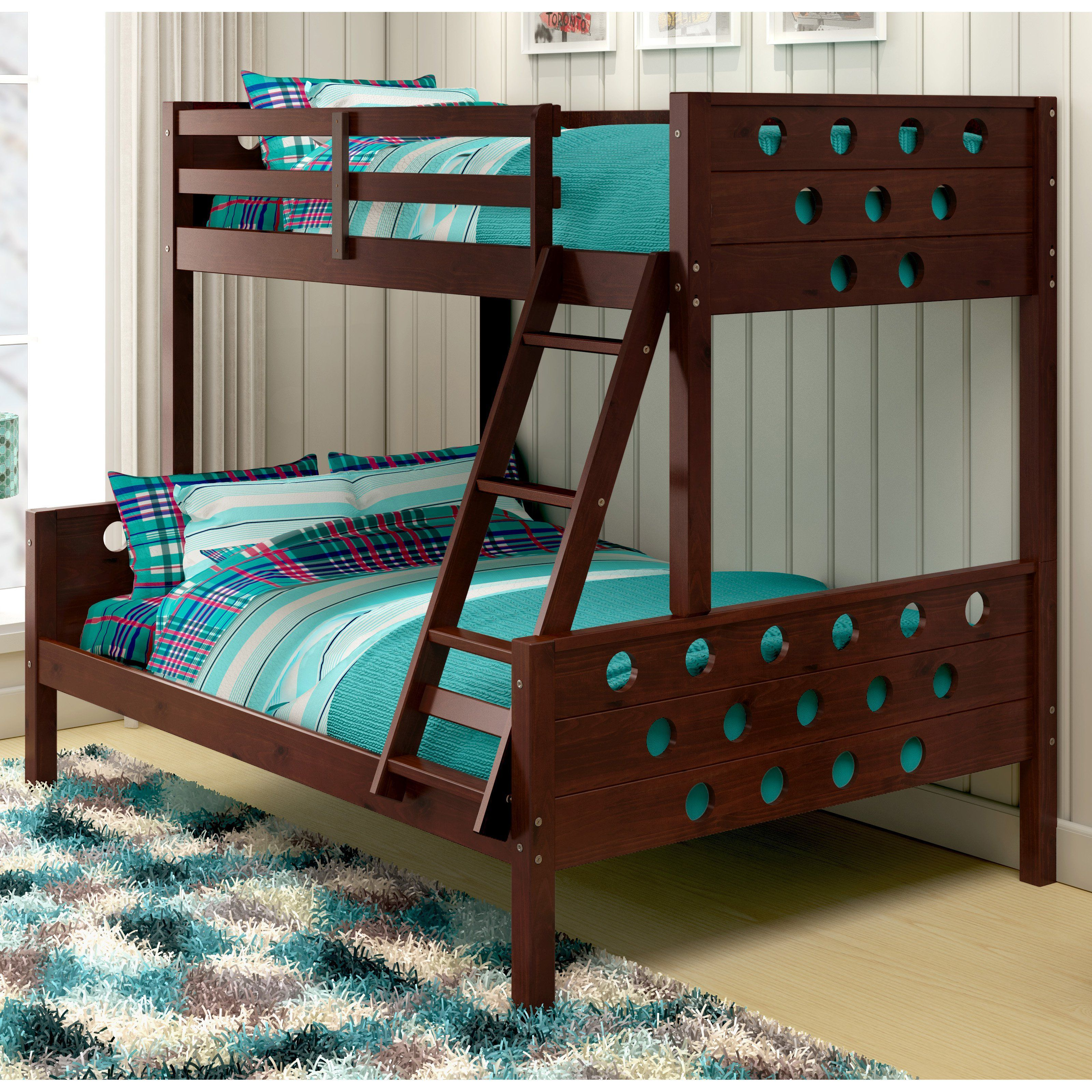 Donco Circles Twin over Full Bunk Bed from