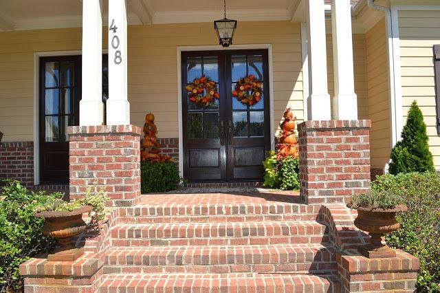 Brick Front Porch Brick Steps Front Porch Steps Front Porch | Brick Front Step Designs | Patio | Entry | Front Entrance Front Porch Wall Tile | Raised Front | Bluestone Treads 24 Inch Rise