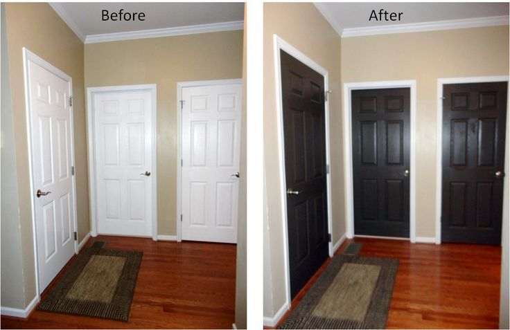 Painted Interior Door Ideas Part - 22: Paint Interior Doors Black Before And After - Google Search