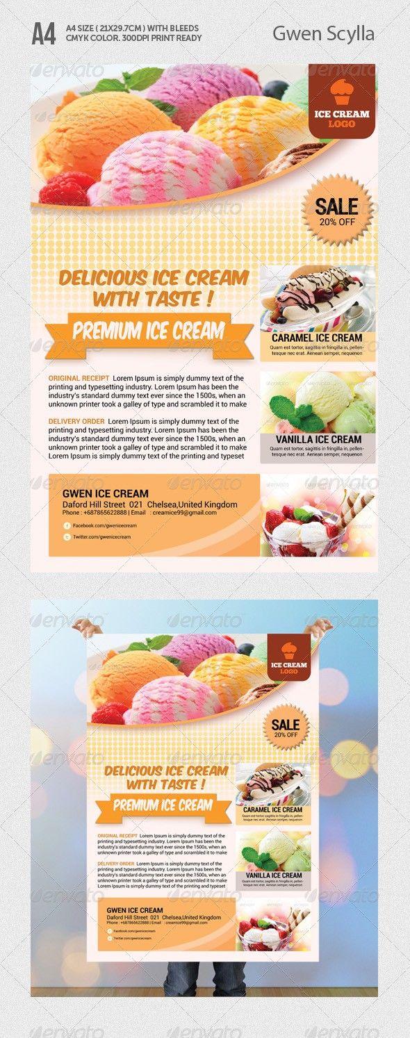 ice cream flyer templates pinterest sale flyer flyer template