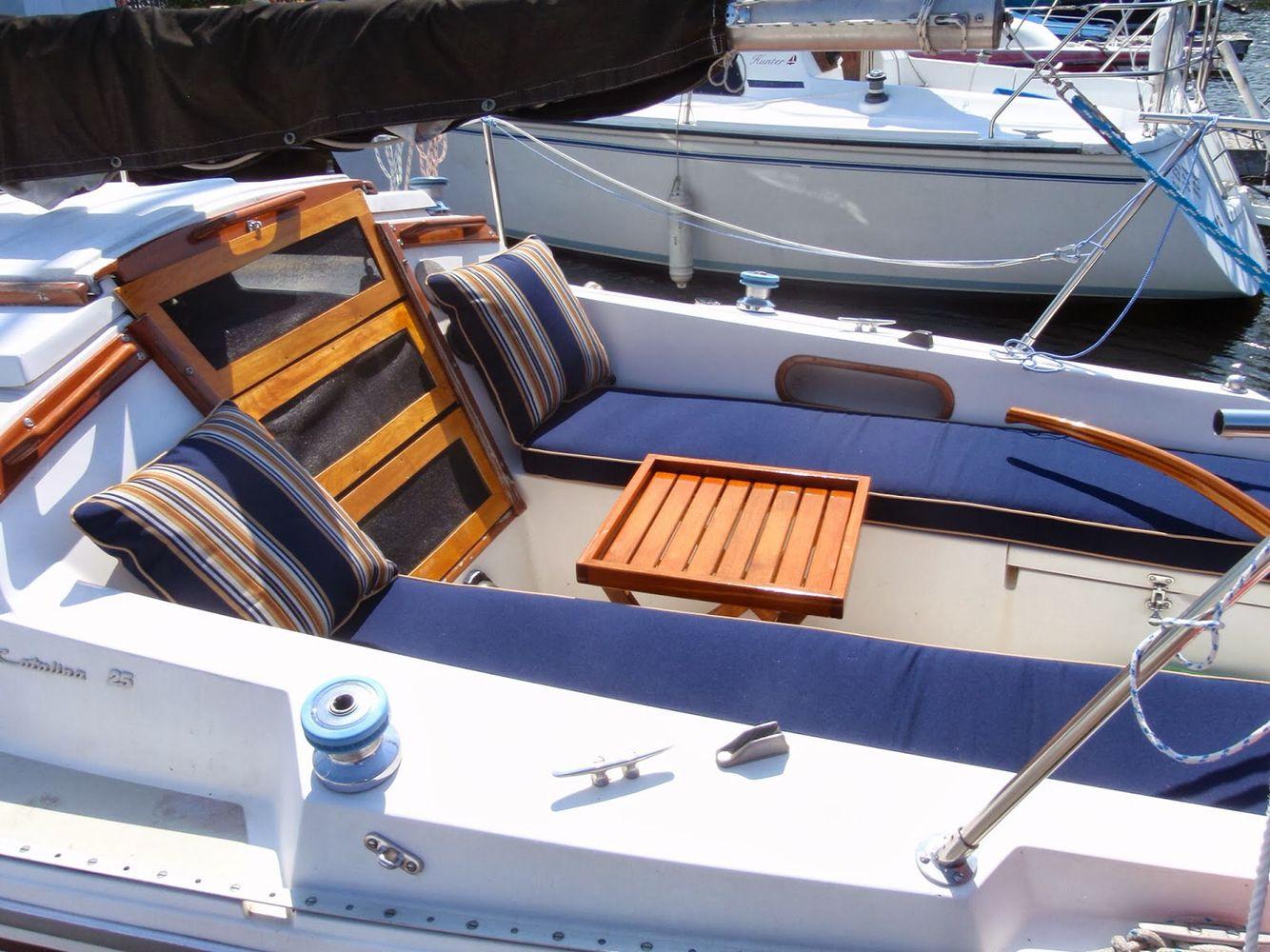 Catalina 25 cockpit cushion idea | Sailboat in 2019