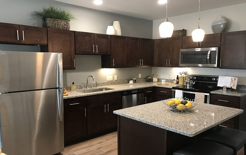 Fully Equipped Kitchen Inside One Of The Residences At Union Flats Apartment Communities Luxury Apartments Luxury Living