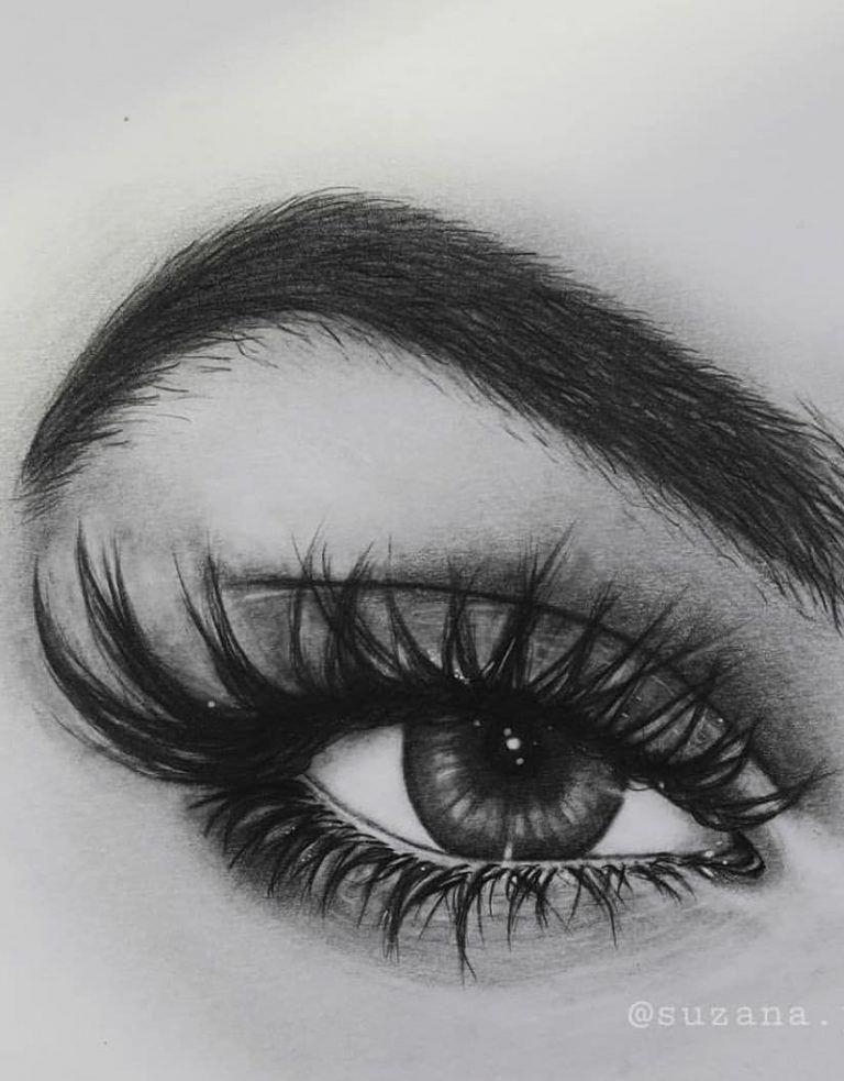 рисуем глаза с картинками стала делать