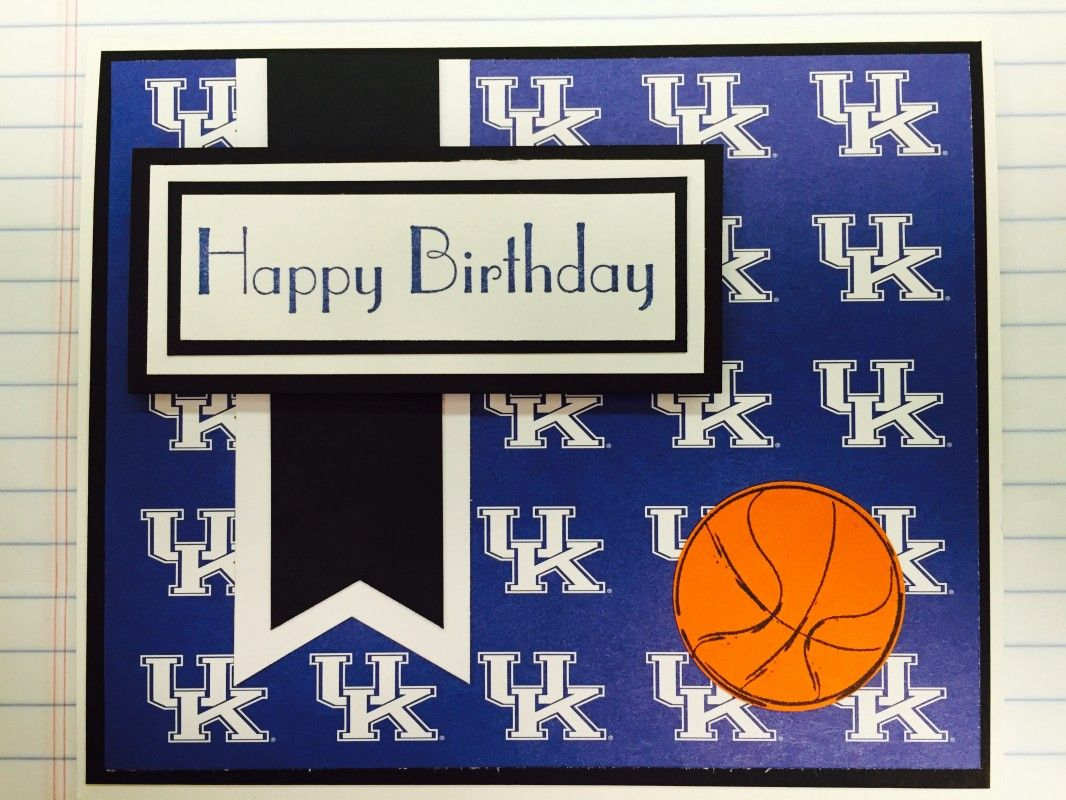 Uk University Of Kentucky Birthday Card By Louisvillecards Cards And Paper Crafts At Splitcoaststampers Cards Birthday Cards Paper Crafts