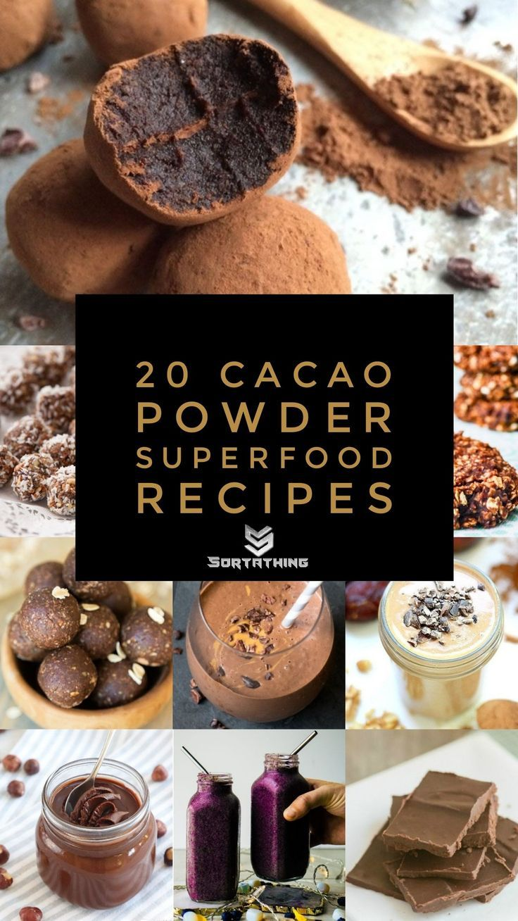 20 Cacao Powder Superfood Recipes You Will Love - Sortathing Food & Health